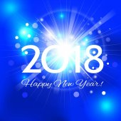 Beautiful Christmas background with a bright flash of light and the words Happy New Year 201