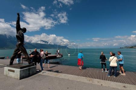 Памятник Фредди в Монтре Mercurys