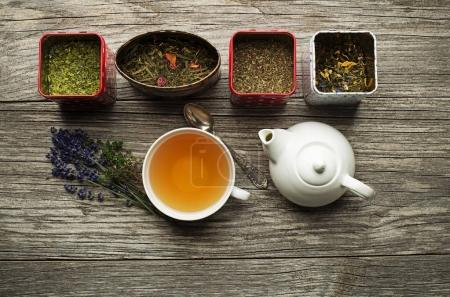 Tea cup with tea collection