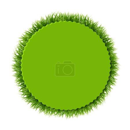 Green grass Label
