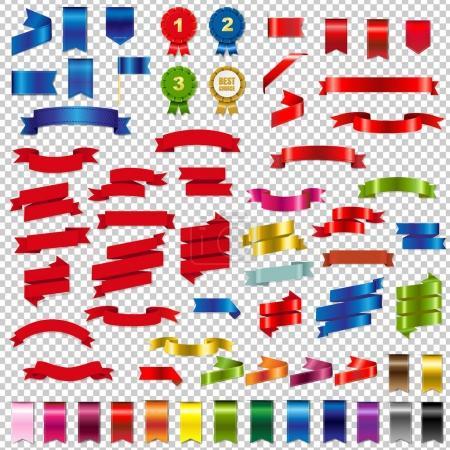 Color Web Ribbons Big Set