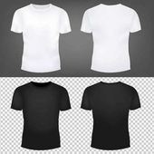 T-Shirt Templates Set With Gradient Mesh Vector Illustration