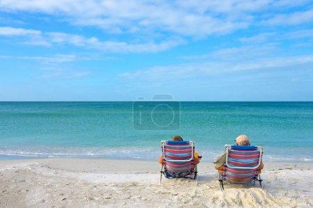 Photo for Couple Enjoying Retirement on the Beach - Royalty Free Image