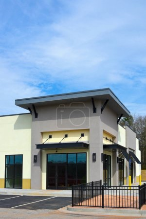 Photo for New Commercial Building with Retail, Restaurant and Office Space available for sale or lease - Royalty Free Image