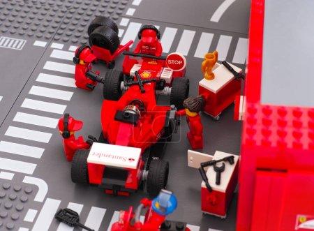 Lego team crew members fixing
