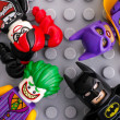 Постер, плакат: Four Lego Batman Movie minifigures Batgirl Batman The Joker