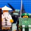 Постер, плакат: Lego Ninjago Movie The Green Ninja and Wu flying on Green Ninja
