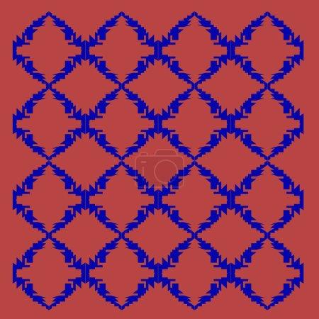 Foto de Red and blue background tile illustration - Imagen libre de derechos