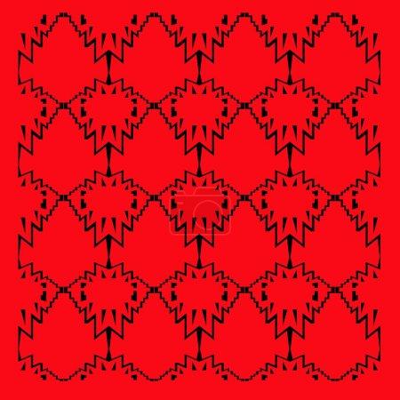 Foto de Red and black background tile illustration - Imagen libre de derechos