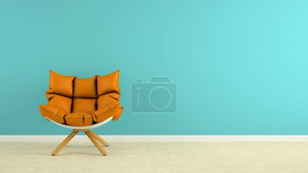 Photo for Interior with the armchair 3D rendering - Royalty Free Image