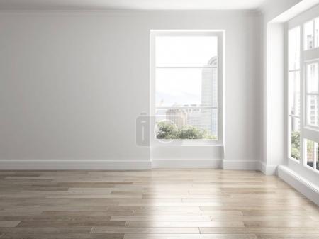 Photo pour Intérieur de la pièce vide rendu 3D - image libre de droit