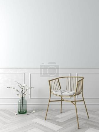 Photo pour Intérieur de la salle de design moderne Illustration 3D - image libre de droit