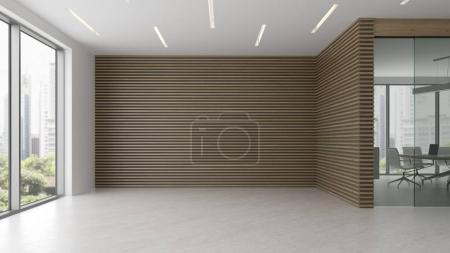 Photo for Interior of reception and meeting room 3 D illustration - Royalty Free Image