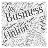 Usage of blogging for business word cloud concept