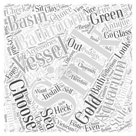 Illustration pour Comment choisir les accessoires de salle de bains et le concept de nuage de mots vasque - image libre de droit