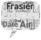 Frasier Season 3 DVD Review text background wordcloud concept