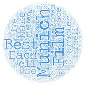 Munich DVD Review text background wordcloud concept