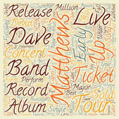 Music Artist Dave Matthews Band Bio text background wordcloud concept