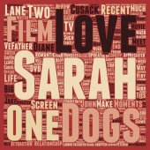 Must Love Dogs DVD Review text background wordcloud concept