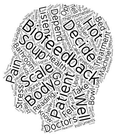 Illustration pour Vous êtes un maître de Biofeedback Vous ne le savez pas encore texte arrière-plan wordcloud concept - image libre de droit