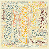 Strategic Leadership How Leadership Can Grow Your Business text background wordcloud concept