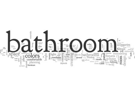 Illustration for Bathroom From Over The Moon Part One - Royalty Free Image