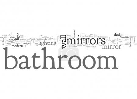 Illustration for Bathroom mirrors the perfect ensemble - Royalty Free Image