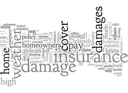 Illustration pour Votre assurance habitation peut-elle résister aux intempéries - image libre de droit