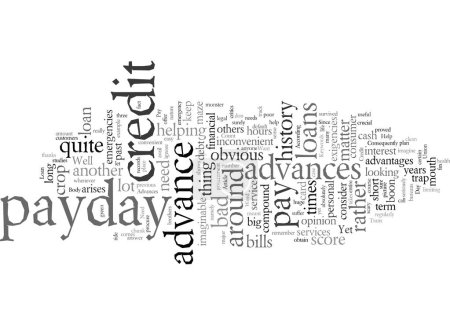 Illustration pour Avances de jour de paye d'urgence Aide quand vous en avez besoin - image libre de droit