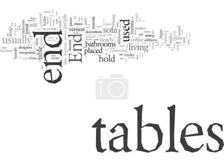 Illustration for End Tables Not For Everyone But Everyone Could Use Them - Royalty Free Image