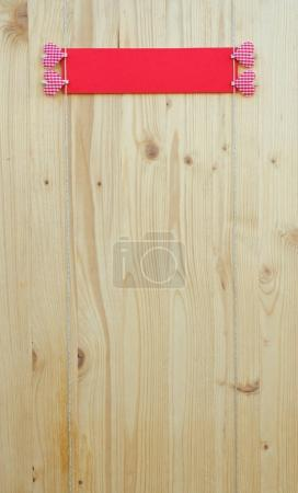 Four hearts on wood