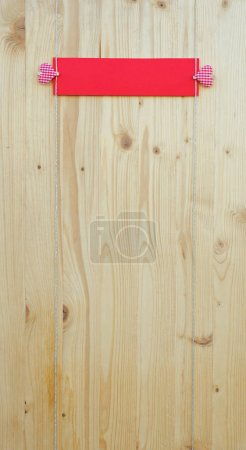 Two hearts on wood