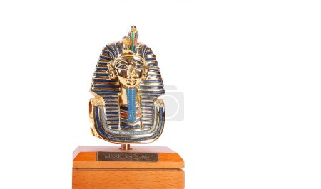 A copy of Tutankhamun's mask. These copies are for...
