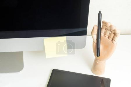 Graphic designer workplace concept