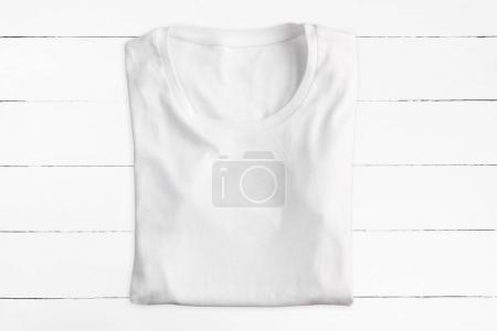 White folded t-shirt