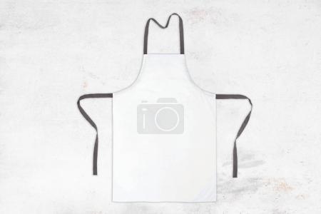 White apron on white vintage texture