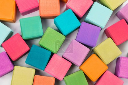 Colorful wooden bricks