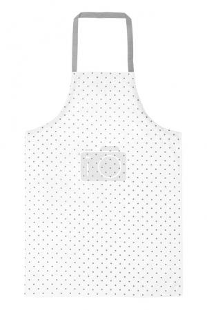 Apron with dotted pattern on white