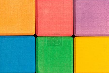 Colorful wooden cubes