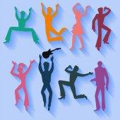 Dancers singers (man woman) set
