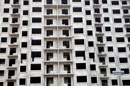 Modern apartment building construction