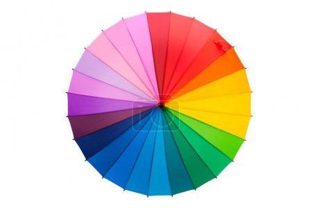 Photo for Multicolored umbrella isolated on white background - Royalty Free Image