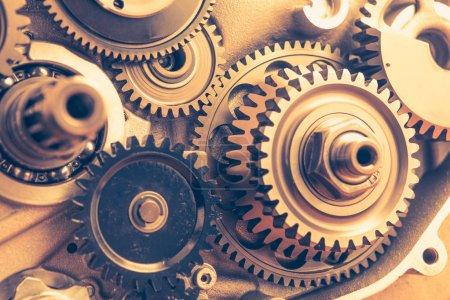 Photo pour Roues motrices, arrière-plan industriel - image libre de droit