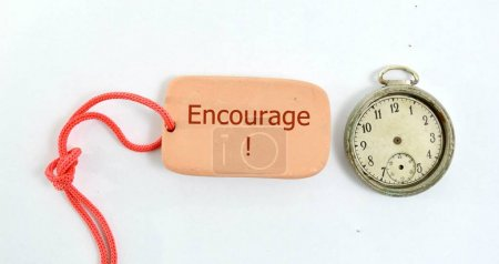 Image of a clay plate and vintage clock with text ...