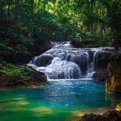 Beautiful waterfall.  Erawan National Park in Kanchanaburi, Thai