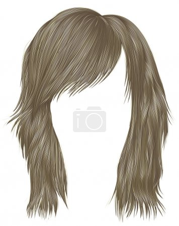 Illustration for Trendy  woman  hairs blond color . beauty fashion style . - Royalty Free Image