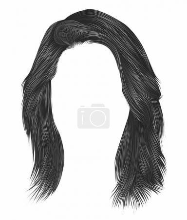 Illustration for Trendy  woman  hairs  gray   color . - Royalty Free Image