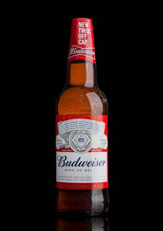 LONDON,UK - MARCH 21, 2017 : Bottle of Budweiser B...
