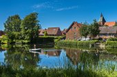 Lake and Pond in the small town of Mlln in Schleswig Holstein, Germany