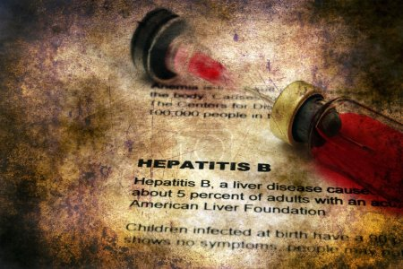 Photo for Hepatitis B grunge concept - Royalty Free Image